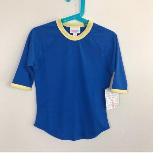 LuLaRoe Other - LuLaRoe Girl Top Blouse Shirt Sz 4 Sloan  Blue
